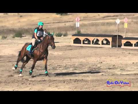227XC Kathryn Canario On Laker JR Novice Cross Country Woodside Oct 2015