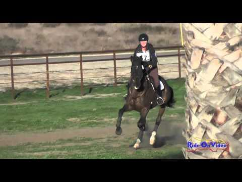 057XC Lauren Rath On Syntax Preliminary Rider Cross Country Galway Downs Feb 2016