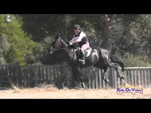 028XC Sara Sellmer On Sloan McQuick CIC2* Cross Country Woodside Oct 2015