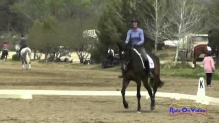 444D Andrea Baxter on Laguna Seca YEH 5Yr Old Dressage Twin Rivers Ranch April 2015
