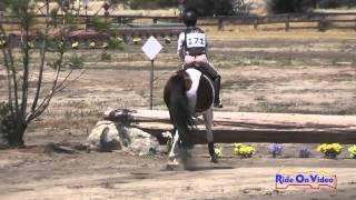 171XC Sidney Bashaw On Candy Pop JR Beginner Novice Cross Country Galway Downs May 2015