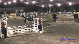 094E1 Karen Bristing on Moonlights Ranger Training Eventing Pacific Indoor Eventing October 2014