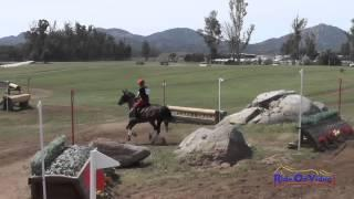 253XC Rebecca Lindy on Queen LaTeePhah SR Beginner Novice Cross Country Copper Meadows March 2015