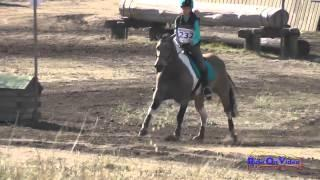 232XC Hailey Johnson on Paint Me Perfect JR Novice Cross Country Woodside Int'l Event Oct 2014