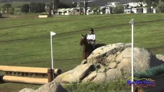 167XC Erin Kellerhouse on Balla Ruan Open Novice Cross Country Copper Meadows March 2015
