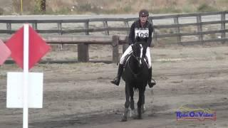 109XC Roberta Zajac on Absolute Faith T3D Cross Country Galway Downs Int'l Event Nov 2014