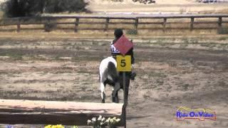 185XC Della White On Oreo 'N Milk JR Beginner Novice Cross Country Galway Downs May 2015