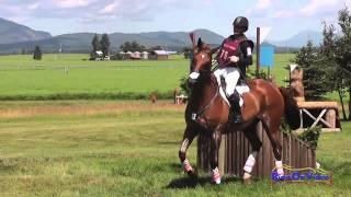 076XC Leah Breakey on Master Plan CIC3* Cross Country The Event at Rabecca Farm July 2014
