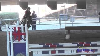 092E1 Chloe Levine on Crowning Derby Novice Eventing Pacific Indoor Eventing October 2014
