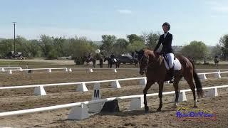 307D Caroline Sanoner on Snappy Comeback Novice AM Dressage Twin Rivers Ranch April 2021