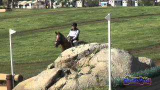 176XC Robyn Fisher on Tomlong Rubia Open Novice Cross Country Copper Meadows March 2015