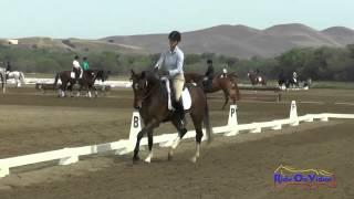 425D Jolie Wentworth on KF Peroni YEH 4Yr Old Dressage Twin Rivers Ranch April 2015