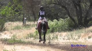287XC Sarah Ertl on Utah B JR Novice Cross Country Twin Rivers Ranch April 2015