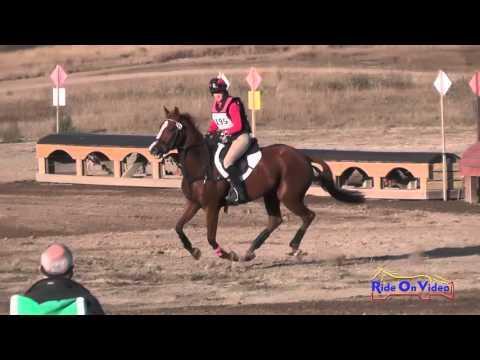 195XC Jeanine Allred On Annabell Open Training Cross Country Woodside Oct 2015