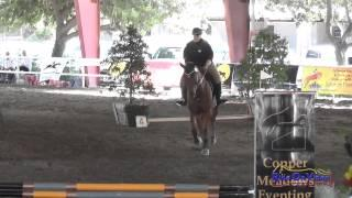 001E1 Logan Farrer on Famous Intro Eventing Pacific Indoor Eventing October 2014