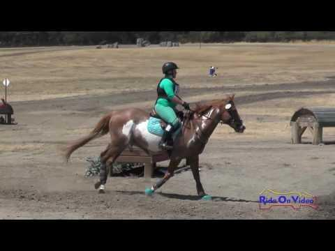 265XC Caroline Williams On Paint The Town Red JR Beginner Novice Cross Country Woodside August 2016