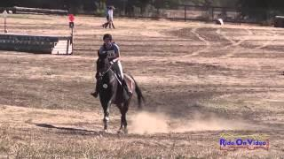 398XC Victoria Garvin on Huckle JR Training Cross Country Woodside Int'l Event Oct 2014