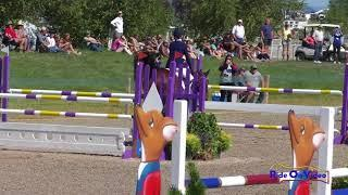 718S Caitlyn Ruud on Up To You De Lorage CCIJ1* Show Jumping Rebecca Farm July 2018