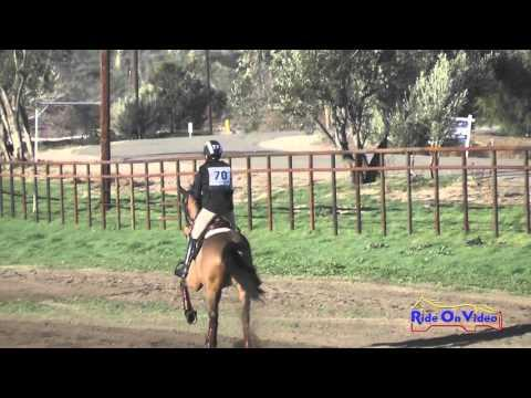 070XC Tessa Robinson On With Class YR Training Cross Country Galway Downs Feb 2016
