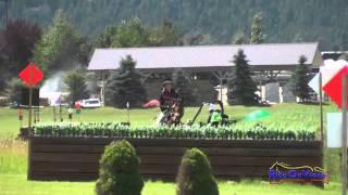 298XC Becky Staden on Donnlara SR Training Cross Country The Event at Rebecca Farm July 2014
