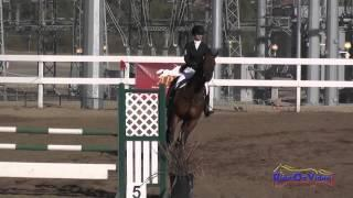 042S Emma Dunn on Southern Comfort Preliminary Rider Show Jumping Fresno County Horse Park Oct 2014