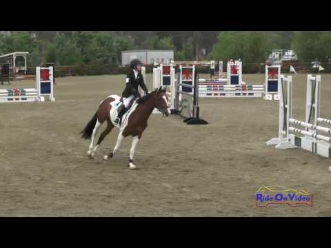 154S Sidney Bashaw On Candy Pop JR Beginner Novice Show Jumping Copper Meadows June 2016