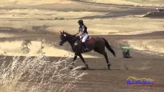 092XC Rebeka Hamilton On Mighty Monsoon Open Beginner Novice Cross Country Camelot July 2015