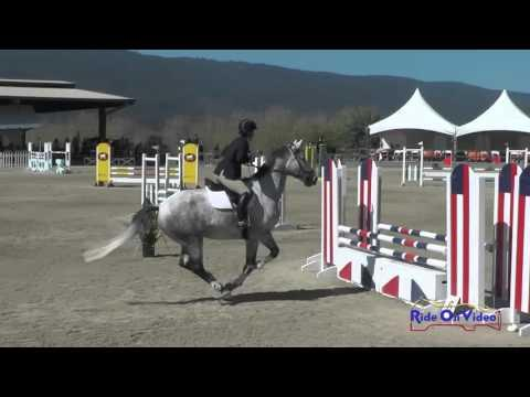 302S McKenzie Miller On Fire And Rain Open Novice Show Jumping Woodside Oct 2015