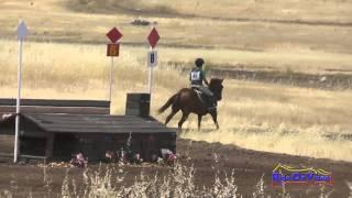 096XC Francesca Bell On Let's Roll Open Beginner Novice Cross Country Camelot July 2015