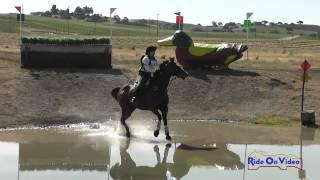132XC Sarah Wood on Diggin' the Blues Preliminary Rider Cross Country Twin Rivers Ranch April 2015