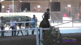 081E2 Toni Harmon on Goo Goo Doll Beginner Novice Eventing Pacific Indoor Eventing October 2014