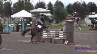 175S Sarah Gilmour On Arabesque JR/YR Preliminary Show Jumping The Event At Rebecca Farm July 2015