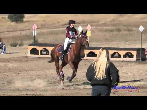 228XC Lisette Boudreaux On Far Niente JR Novice Cross Country Woodside Oct 2015