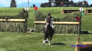 139XC Becky Farrell on Gia Open Preliminary Cross Country The Event at Rebecca Farm July 2014
