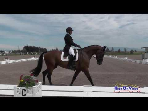 075D Heather Morris On Charlie Tango CIC3* Dressage Rebecca Farm July 2016