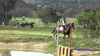 193XC Lorie Haynes on Just Peachy SR Novice Cross Country Copper Meadows March 2015