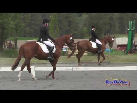 293D Rita Nedrow On Free The Eagle JR/YR Preliminary Dressage Spokane Sport Horse HT May 2016