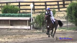 017XC Heather Morris On Dempsey Open Preliminary Cross Country Galway Downs May 2015