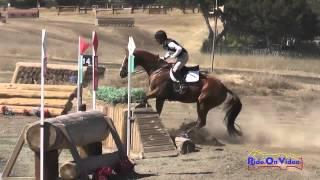 032XC Leigh Mesher on Revolutionist CIC1* Cross Country Woodside Int'l Event Oct 2014