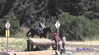122XC Gina Miles on RF Lanacapri Open Training Cross Country Woodside August 2014