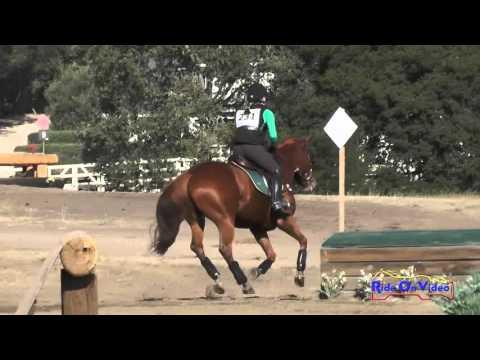 231XC Jessica Flores On Kleary's Mighty Pip JR Novice Cross Country Woodside Oct 2015