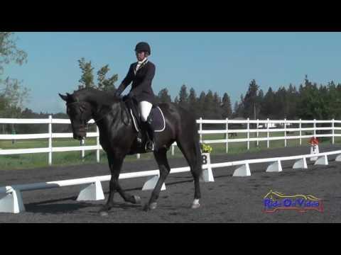 147D Sarah Broussard On Ultimo D'Amerloo SR Novice Dressage Spokane Sport Horse HT May 2016