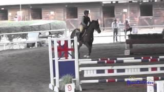 093J1 Tayler Ravenscroft on First Field Training Jumping Pacific Indoor Eventing October 2014