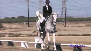 098D Catherine Sanger on Really A Dancer YR Novice Dressage Fresno County Horse Park Oct 2014
