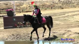 152XC Hailey Graham on He's Dark N Handsome JR Beginner Novice Cross Country FCHP April 2015