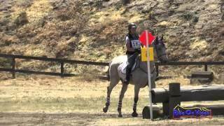 162XC Hannah Warner on Silver Lining JR Beginner Novice Cross Country FCHP April 2015