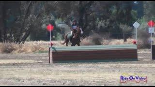 110XC Faith Dennie on Lascaux Skibo YR Novice Cross Country FCHP April 2015