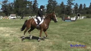 125S Jeanine Allred on Annabell Open Preliminary Show Jumping Whidbey Island July 2017