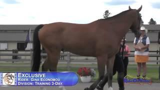211J2 Gina Economou On Exclusive Training 3-Day FEI Jog 2 The Event At Rebecca Farm July 2015