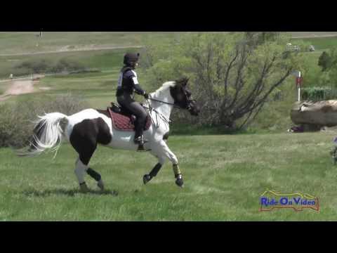 112XC Amy Dalrymple On Tritons Echo Novice Rider Cross Country Colorado Horse Park June 2016